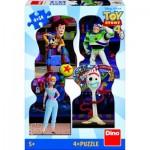 Dino-33322 4 Jigsaw Puzzles - Toy Story 4