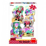 Dino-33325 4 Puzzles - Minnie and Daisy