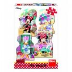 Dino-33325 4 Puzzles - Minnie and Daisy