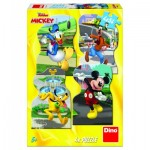 Dino-33326 4 Jigsaw Puzzles - Mickey Mouse in the City