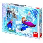 Dino-33523 3 Puzzles - Frozen