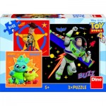 Dino-33532 3 Jigqaw Puzzles - Toy Story 4