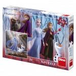 Dino-33533 3 Jigsaw Puzzles - Frozen 2