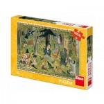 Puzzle  Dino-34348 XXL Pieces - Josef Lada - Fairy Tales