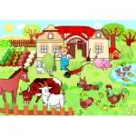Puzzle  Dino-34349 XXL Pieces - Animals on the Farm