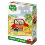 Puzzle  Dino-35019 XXL Pieces - Safari