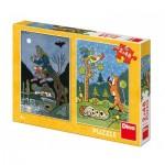 Dino-38161 2 Puzzles - Fairy Tales