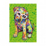 Puzzle  Dino-47220 XXL Pieces - Puppy with Glasses