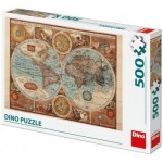 Puzzle  Dino-50230 Ancient World Map, 1626
