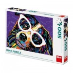 Puzzle  Dino-50235 Dog with Glasses