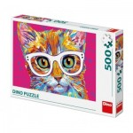 Puzzle  Dino-50236 Cat with Glasses