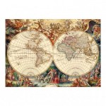 Puzzle  Dino-53185 Antique World Map