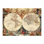 Puzzle  Dino-53249 Antique World Map