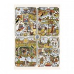 Puzzle  Dino-53251 Josef Lada - Year's Seasons