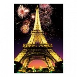 Dino-54122 Neon Puzzle - Eiffel Tower