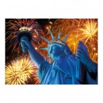 Dino-54123 Neon Puzzle - Statue of Liberty