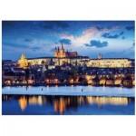 Dino-54127 Neon Puzzle - Prague Castle