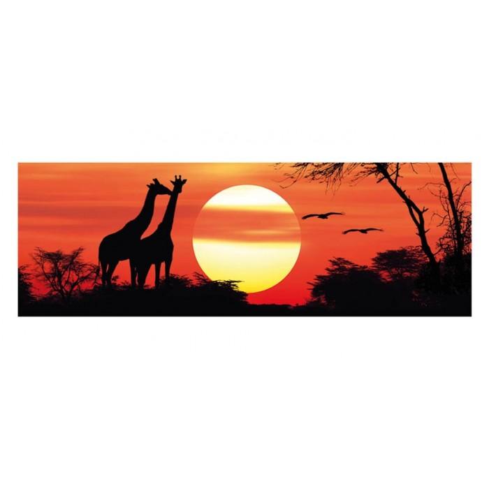 Giraffes at the Sunfall