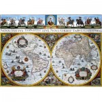 Puzzle  Dino-55123 Antique World Map