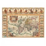 Puzzle  Dino-56106 Antique World Map