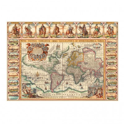 Puzzle Dino-56115 Antique World Map