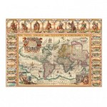 Puzzle  Dino-56115 Antique World Map