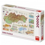 Puzzle  Dino-56120 Map of Slovakia