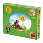 Dino-64106 Wooden Cube Puzzle - The Little Mole