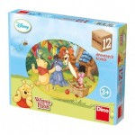 Dino-64116 Wooden Cube Puzzle - Winnie the Pooh