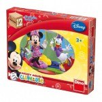 Dino-64117 Wooden Cube Puzzle - Mickey