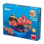 Dino-64119 Wooden Cube Puzzle - Nemo