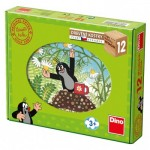 Dino-64121 Wooden Cube Puzzle - The Little Mole