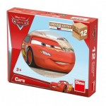 Dino-641228 Wooden Cube Puzzle - Cars