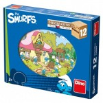 Dino-64123 Wooden Cube Puzzle - The Smurfs