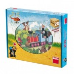 Dino-642058 Wooden Cube Puzzle - The Little Mole