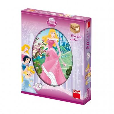 Dino-64207 Wooden Cube Puzzle - Disney Princess