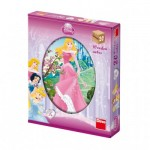 Dino-642072 Wooden Cube Puzzle - Disney Princess