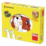 Dino-643116 Wooden Cube Puzzle - Tales