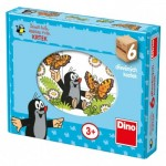 Dino-64312 Wooden Cube Puzzle - The Little Mole