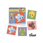 Diset-69955 4 Puzzles Naturin Baby: Mouse, Squirrel, Chick and Frog