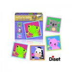 Diset-69956 4 Naturin Baby Puzzles: Frog, Zebra, Pig and Ourson