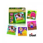 Diset-69958 4 Naturin Puzzles: Farm