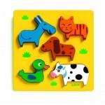 Djeco-01022 Wooden Jigsaw Puzzle - Vachemenbien