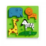 Djeco-01023 Wooden Jigsaw Puzzle - Incrocodible