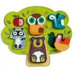 Djeco-01039 Wooden Jigsaw Puzzle - Oski