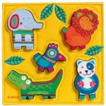 Djeco-01041 Wooden Jigsaw Puzzle - Junga