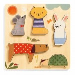 Djeco-01051 Wooden Jigsaw Puzzle - Woodypets
