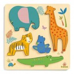 Djeco-01052 Wooden Jigsaw Puzzle - Woodyjungle