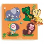 Djeco-01054 Wooden Jigsaw Puzzle - Mamijungle