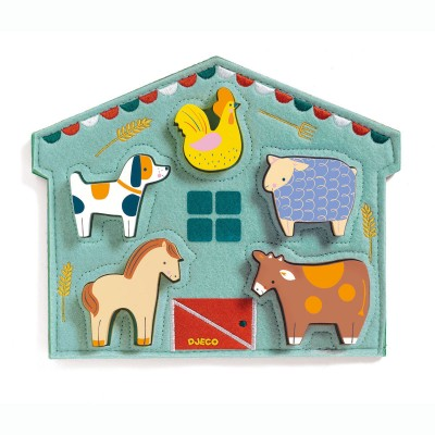 Djeco-01055 Wooden Jigsaw Puzzle - Mowy